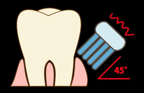 歯と歯茎の間の磨き方